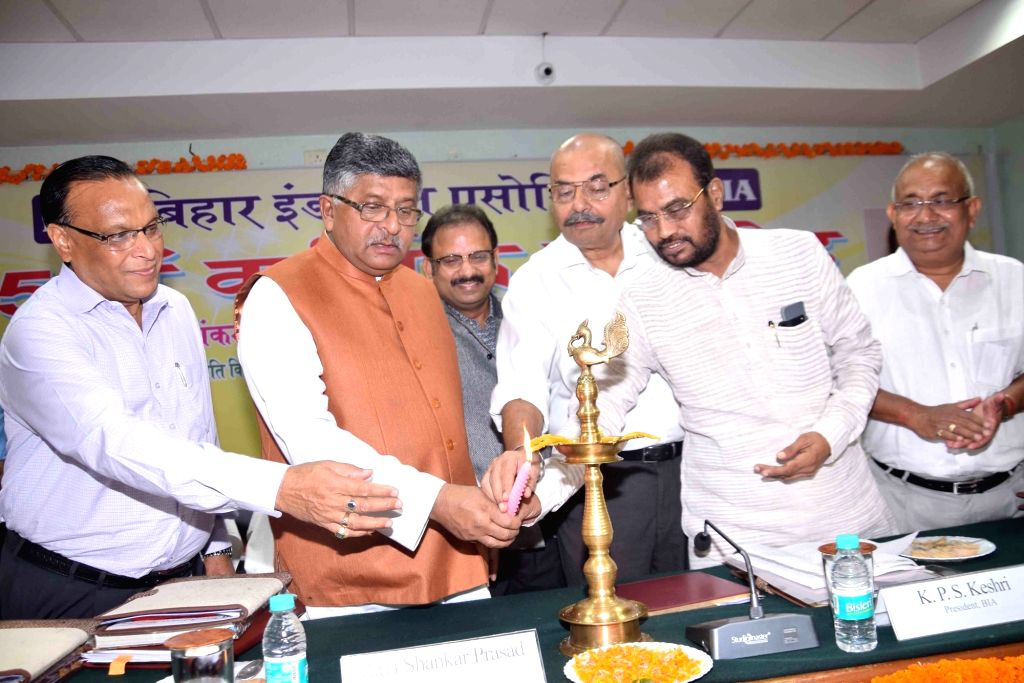 Union Law and Justice, Communications and Electronics and Information Technology Minister Ravi Shankar Prasad during the Bihar Industries Association (BIA) Annual Day programme in Patna on Sep ... - Ravi Shankar Prasad