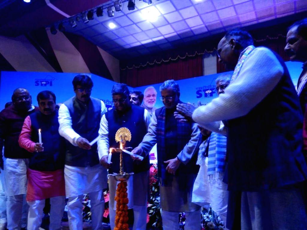 Union Law Minister Ravi Shankar Prasad and Bihar Deputy Chief Minister Sushil Kumar Modi during a programme in Darbhanga district of Bihar on Feb 9, 2019. - Ravi Shankar Prasad and Sushil Kumar Modi