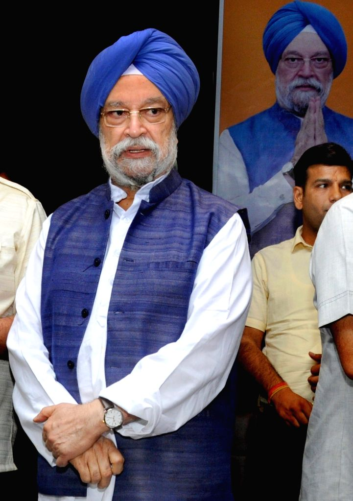 Union Minister and BJP's Lok Sabha candidate from Amritsar,  Hardeep Singh Puri at a press conference in Amritsar, on April 25, 2019. - Hardeep Singh Puri