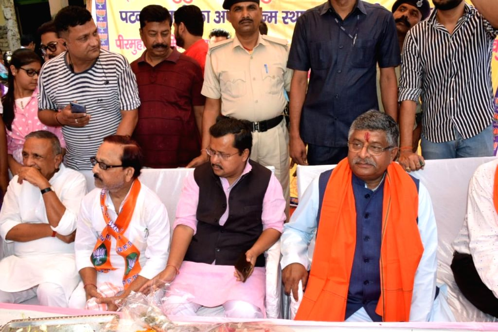Union Minister and BJP's Lok Sabha candidate from Patna Sahib, Ravi Shankar Prasad during an election programme in Patna, on May 5, 2019.