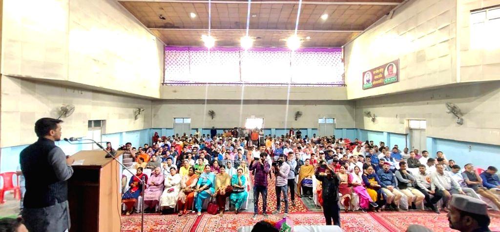 Union Minister Anurag Thakur addresses at the Sansad Star Khel Mahakumbh final prize distribution ceremony, in Shimla on Oct 26, 2019. - Anurag Thakur