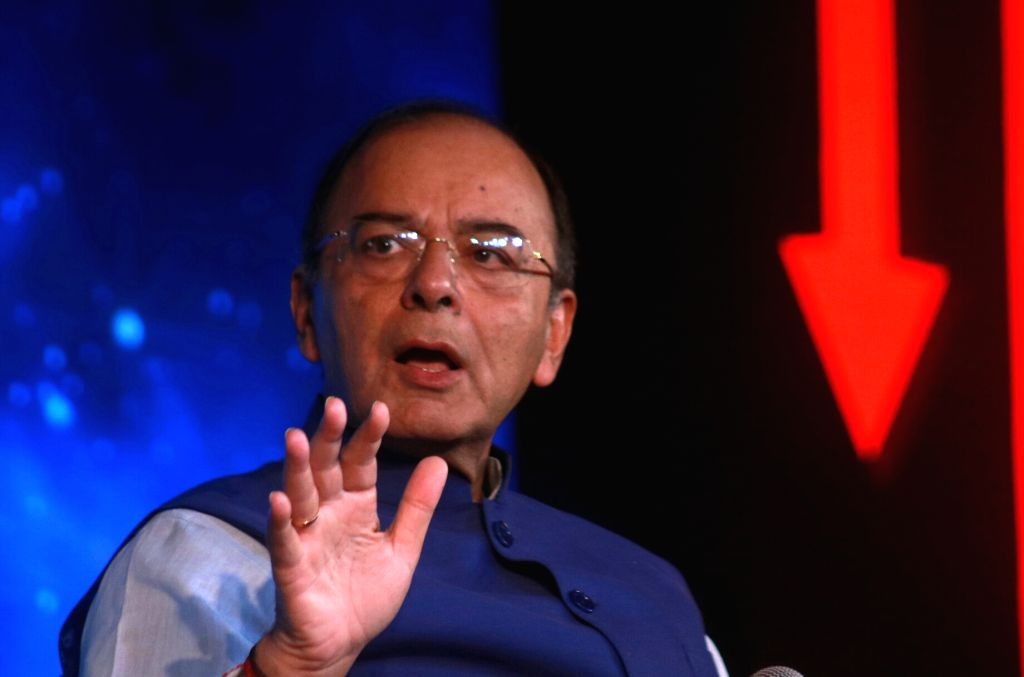 Union Minister Arun Jaitley addresses during India Today's Midnight Conclave on GST in New Delhi, on June 30, 2017. - Arun Jaitley