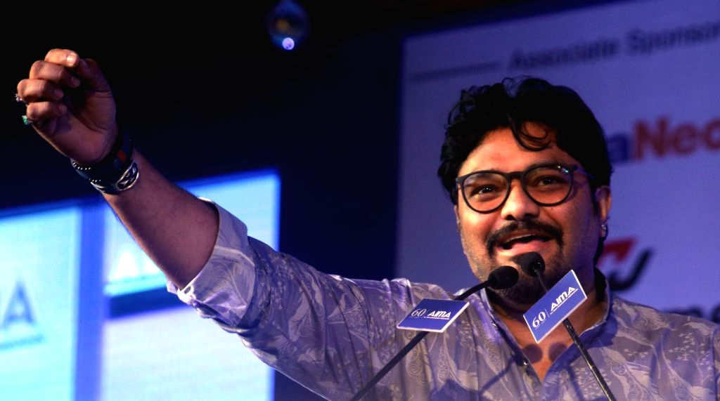 Union Minister Babul Supriyo during AIMA Awards ceremony in New Delhi, on April 27, 2017. - Babul Supriyo