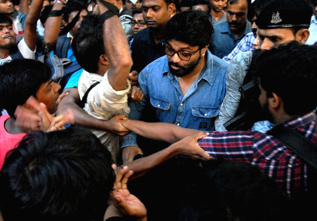 Union Minister Babul Supriyo heckled by a section of students of Jadavpur University during his visit to the campus to attend an event organised by the Akhil Bharatiya Vidyarthi Parishad ... - Babul Supriyo