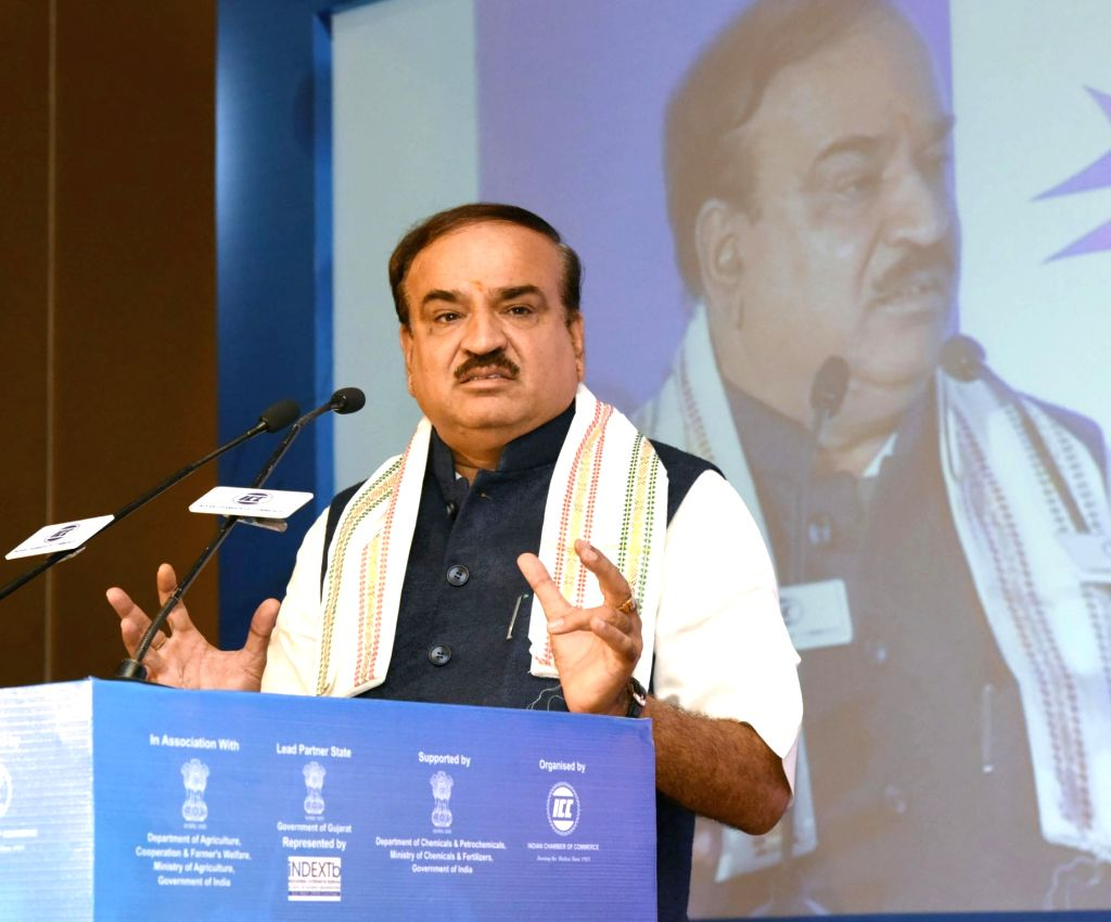 "Union Minister for Chemicals and Fertilizers Ananth Kumar addresses during the inauguration of the ""CHEMINAR - 2016"", in New Delhi on June 24, 2016. - Ananth Kumar"