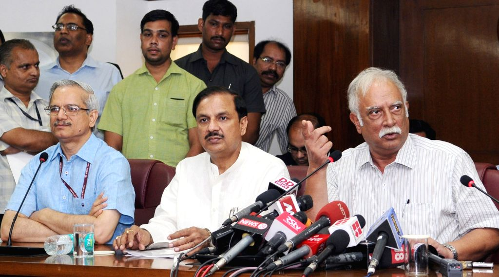 Union Minister for Civil Aviation Ashok Gajapathi Raju Pusapati and the Minister of State for Culture (Independent Charge), Tourism (Independent Charge) and Civil Aviation, Dr. Mahesh ... - Mahesh Sharma