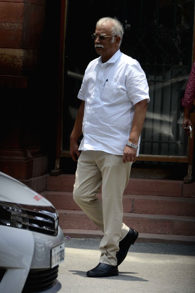Union Minister for Communications & Information Technology Ravi Shankar Prasad comes out after a cabinet meeting in New Delhi on June 29, 2016.