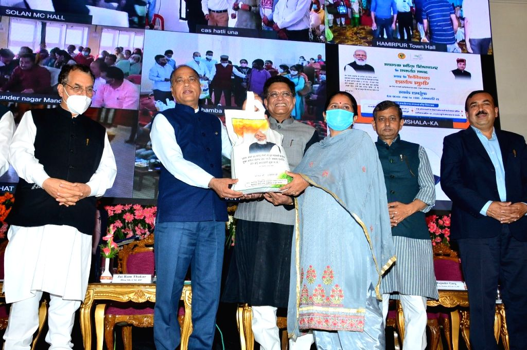 Union Minister for Consumer Affairs, Food and Public Distribution Piyush Goyal presided over the State Level Function of Pradhan Mantri Garib Kalyan Ann Yojna here today.