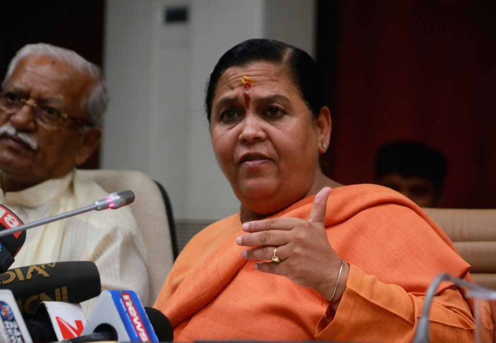 Union Minister for Drinking Water and Sanitation Uma Bharti.(File Photo: IANS)