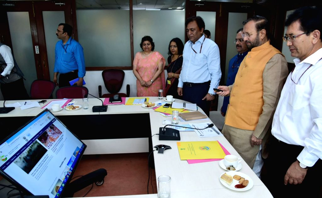 Union Minister for Environment, Forest & Climate Change and Information & Broadcasting Prakash Javadekar launches the website unccdcop14india.gov.in, with all information related ... - K. Mishra