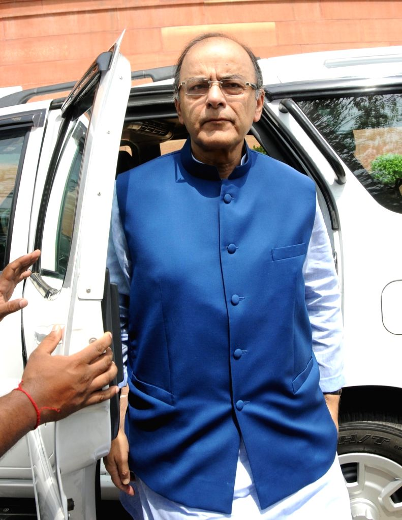 Union Minister for Finance and Corporate Affairs Arun Jaitley at Parliament in New Delhi, on July 22, 2016. - Affairs Arun Jaitley
