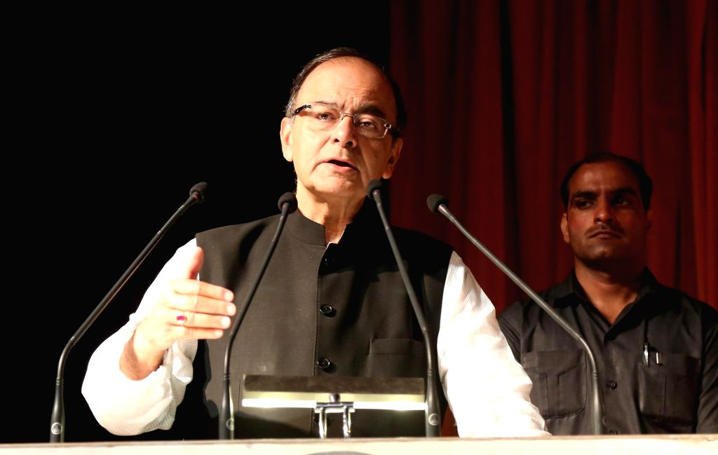 Union Minister for Finance and Corporate Affairs Arun Jaitley addresses during inauguration of Start-up School at a Jalandhar University  on Sept 18, 2016. - Affairs Arun Jaitley