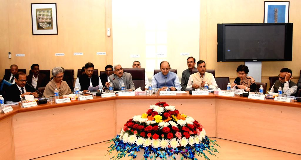 Union Minister for Finance and Corporate Affairs Arun Jaitley during a Pre-Budget consultative meeting for the Union Budget 2017-18 with the representatives of different Social Sector ... - Affairs Arun Jaitley