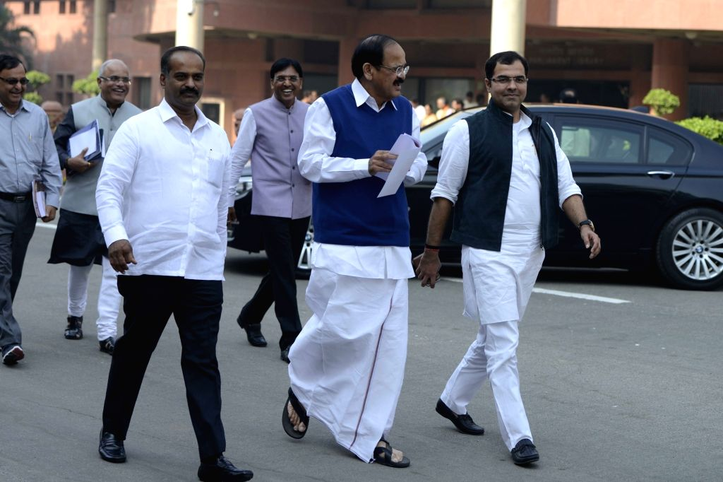 Union Minister for Finance and Corporate Affairs Arun Jaitley and Union Law and Justice Minister Ravi Shankar Prasad come out after BJP Parliamentary Party meeting at Parliament in New ... - Ravi Shankar Prasad and Affairs Arun Jaitley