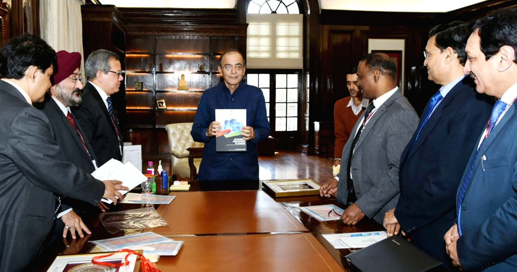 Union Minister for Finance and Corporate Affairs Arun Jaitley releases a Compendium of Instructions on GST Refunds, in New Delhi on March 1, 2019. - Affairs Arun Jaitley