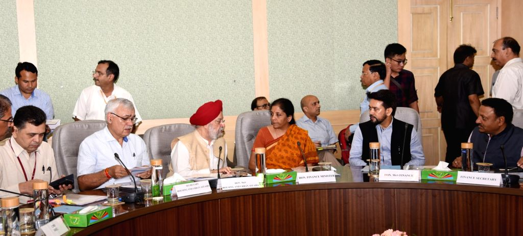 Union Minister for Finance and Corporate Affairs Nirmala Sitharaman and MoS Housing and Urban Affairs, Civil Aviation (Independent Charge) and Commerce & Industry Hardeep Singh Puri ... - Hardeep Singh Puri