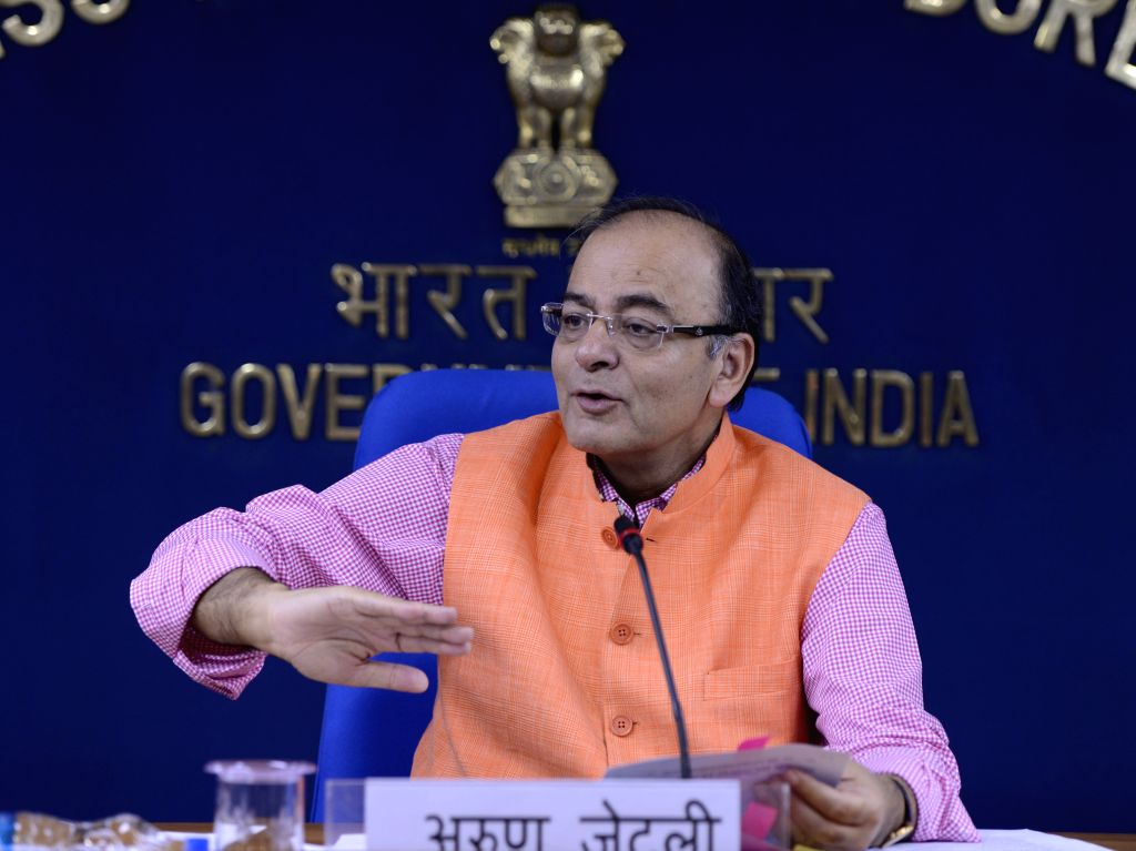 Union Minister for Finance, Corporate Affairs, and Information and Broadcasting Arun Jaitley during a press conference  in New Delhi, on July 16, 2015.