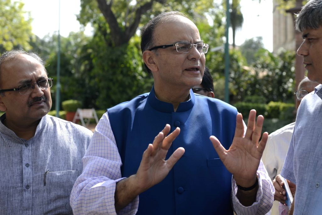 Union Minister for Finance, Corporate Affairs and Information and Broadcasting, Arun Jaitley at the Parliament in New Delhi, on Aug 3, 2015. - Arun Jaitley