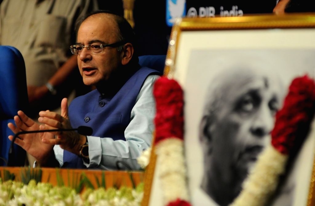 Union Minister for Finance, Corporate Affairs, and Information and Broadcasting Arun Jaitley addresses during the Sardar Patel Memorial Lecture - 2015 organised by All India Radio in New ... - Arun Jaitley