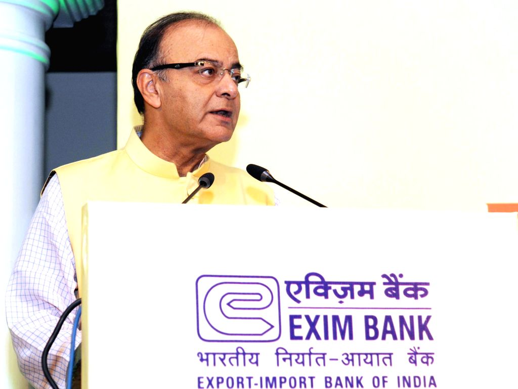 Union Minister for Finance, Corporate Affairs and Information and Broadcasting Arun Jaitley addresses at the Seminar on Focus Africa, organised by the Export-Import Bank of India, in New ... - Arun Jaitley