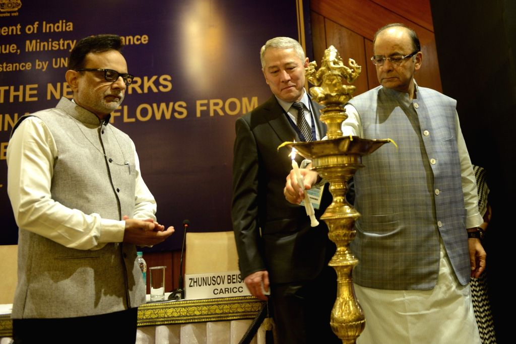 """Union Minister for Finance, Corporate Affairs, and Information and Broadcasting Arun Jaitley during the International Conference on """"Networking the Networks"""" in New Delhi, on Nov ... - Arun Jaitley"""