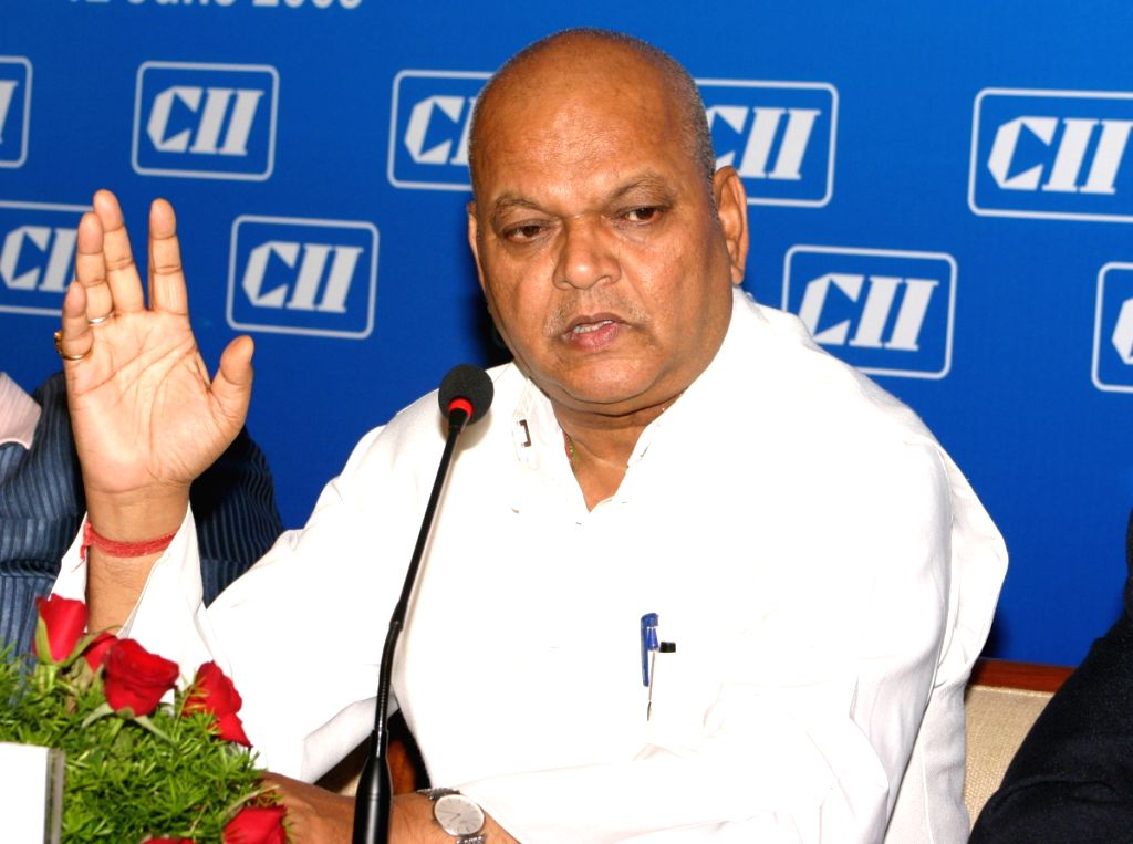 Union Minister for Food Processing Industries Subodh Kant Sahai at the CEO's Interactive Session with him in New Delhi on Friday.