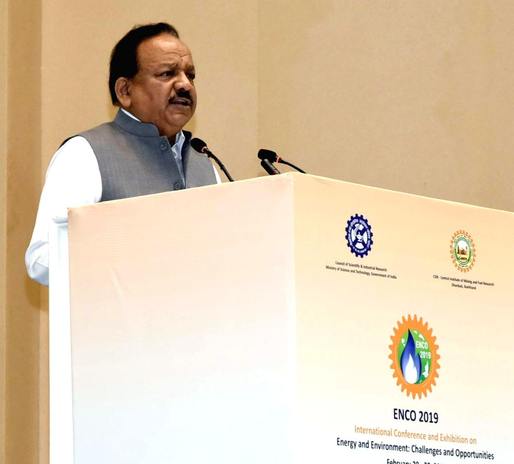 "Union Minister for Forest and Climate Change Harsh Vardhan addresses at the inauguration of an international conference on ""Energy and Environment : Challenges and Opportunities"" ..."