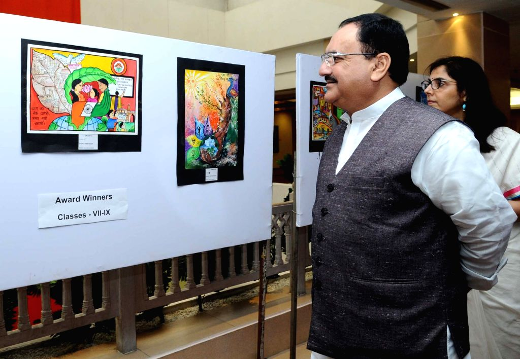 """Union Minister for Health and Family Welfare JP Nadda visits """"Jimmedari Nibhao, Plan Banao"""" - an exhibition organised by the Ministry of Health and Family Welfare in ..."""