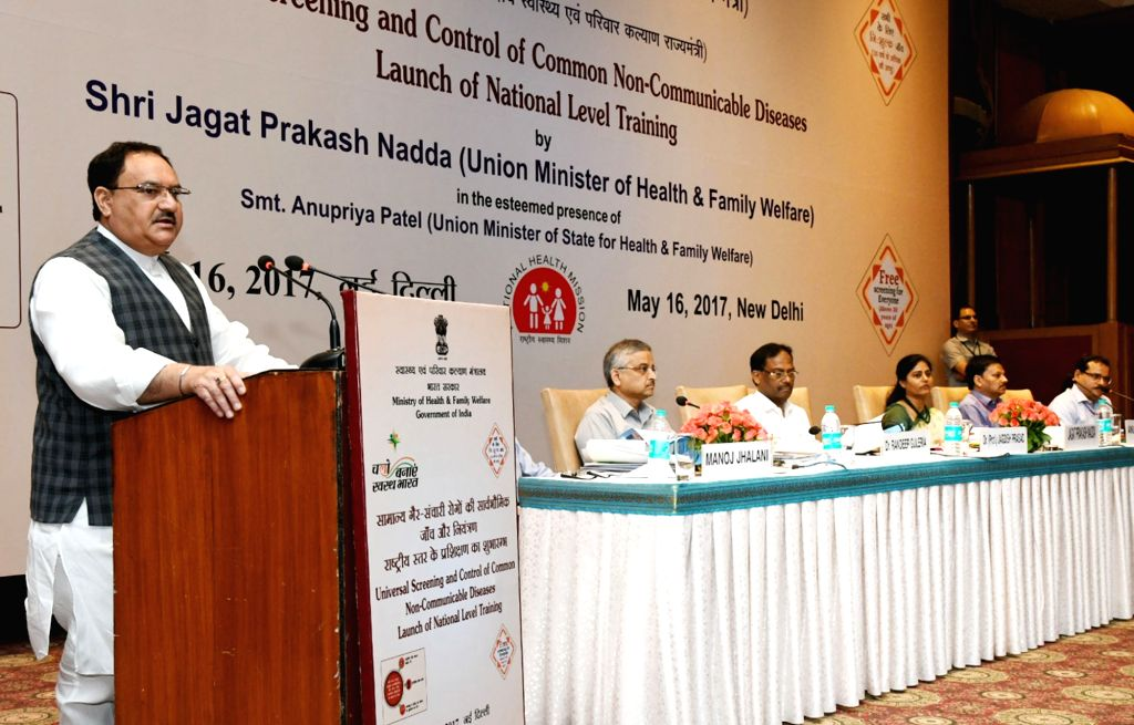 Union Minister for Health and Family Welfare JP Nadda addresses at launch of  National Level Training on universal screening and control of common Non-Communicable Diseases in New Delhi on ... - Welfare Anupriya Patel
