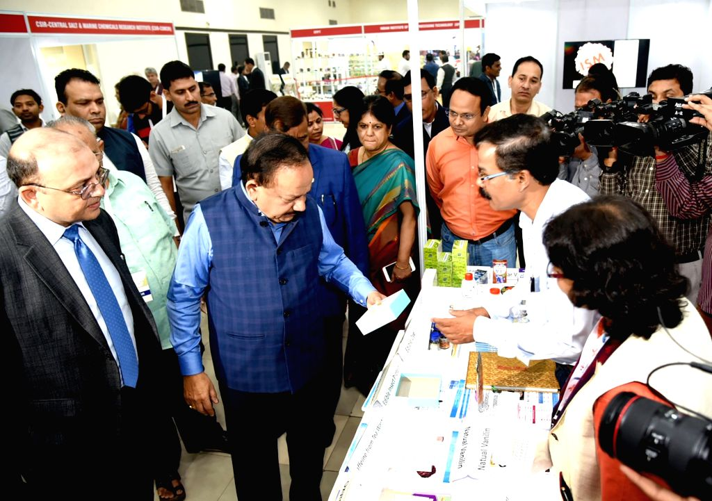 Union Minister for Health & Family Welfare, Science & Technology and Earth Sciences, Dr. Harsh Vardhan visits after inaugurating the Exhibition on Technologies in Food Processing ...
