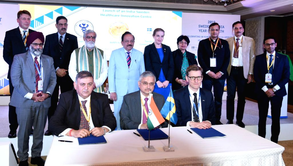 Union Minister for Health & Family Welfare, Science & Technology and Earth Sciences, Dr. Harsh Vardhan and the State Secretary to the Minister for Health and Social Affairs, Sweden ...