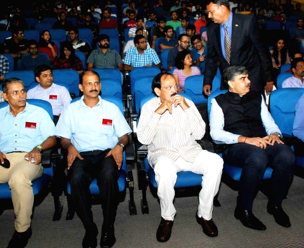 Union Minister for Information and Broadcasting M Venkaiah Naidu during the ISB Community programme on 'Emerging Media's Role in India's Growth', at Indian School of Business on Aug 13, ... - M Venkaiah Naidu