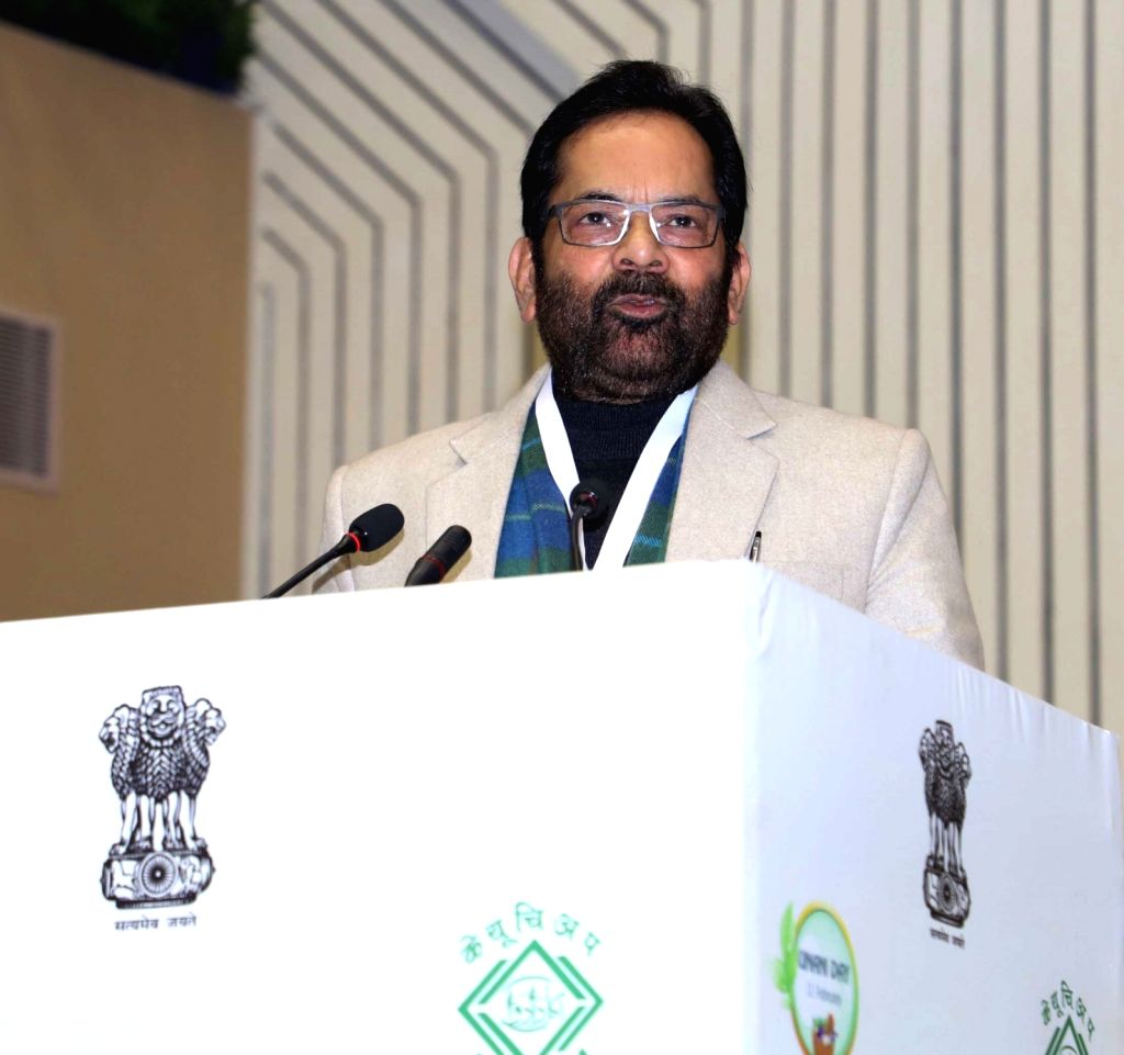 "Union Minister for Minority Affairs Mukhtar Abbas Naqvi addresses at the National Conference on Unani Medicine ""Unani Medicine for Public Health"" organised by the Central Council ..."