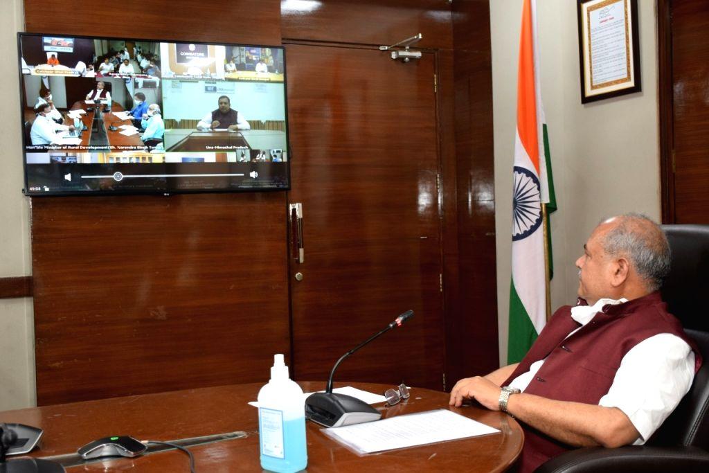 Union Minister for Panchayati Raj and Agriculture & Farmers Welfare, Narendra Singh Tomar - Narendra Singh Tomar
