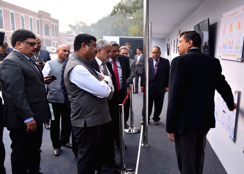 Union Minister for Petroleum & Natural Gas and Steel Dharmendra Pradhan witnesses the Demonstration and Experimental driving of xEV vehicles, in New Delhi on Dec 5, 2019.