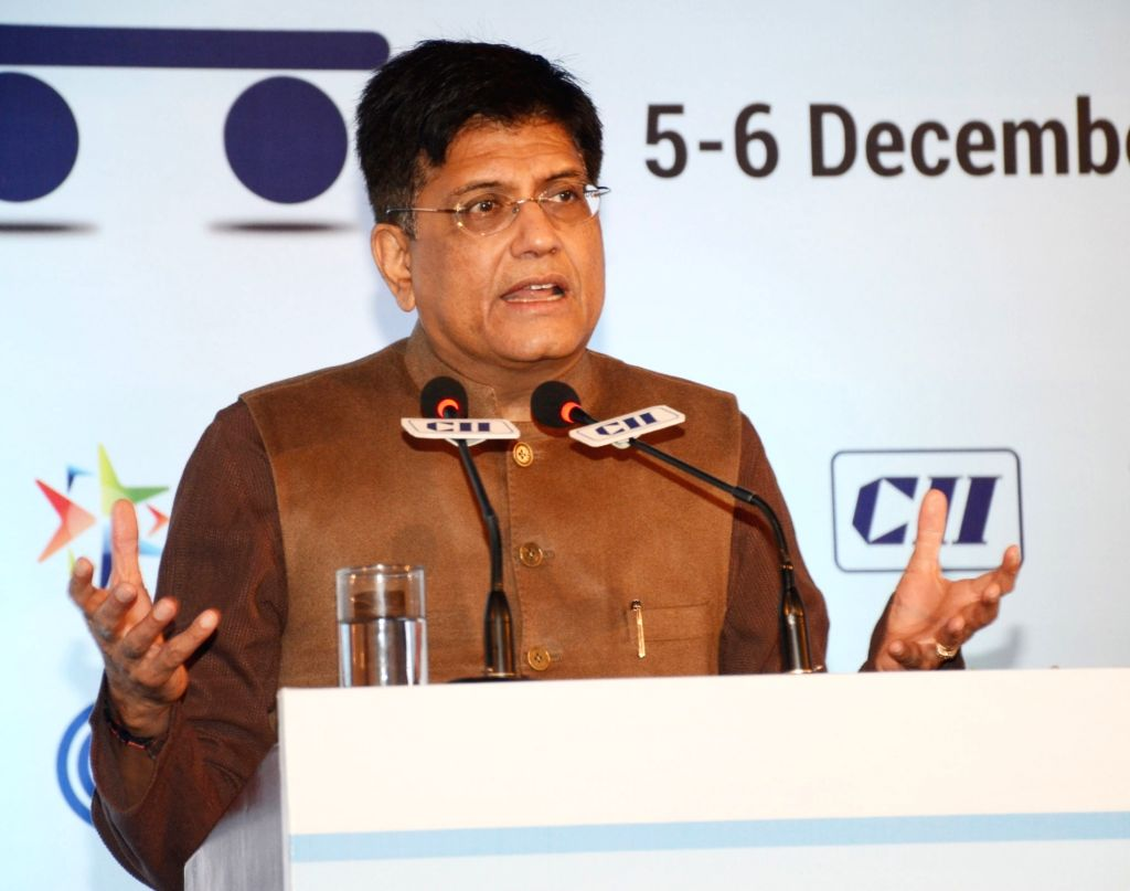 Union Minister for Railways and Commerce & Industry Piyush Goyal addresses at the 3rd edition of National Public Procurement Conclave, in New Delhi on Dec 5, 2019.