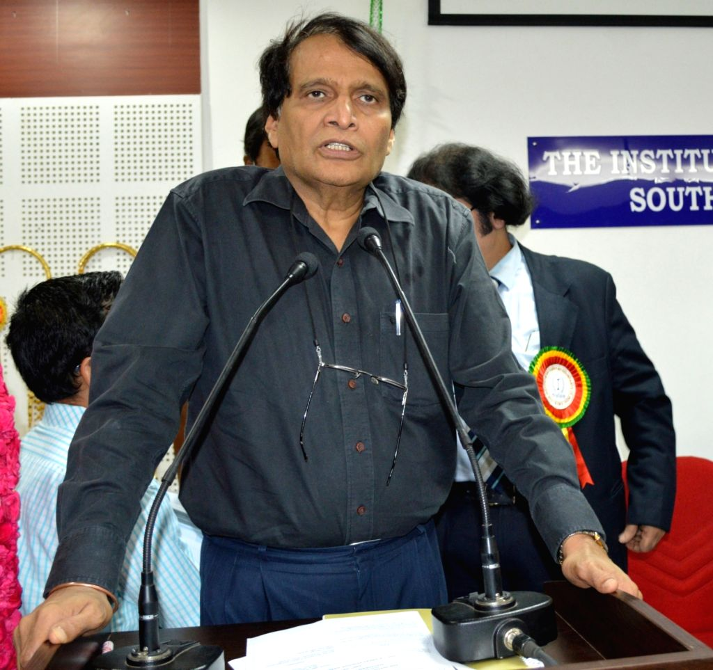 Union Minister for Railways Suresh Prabhu addresses a seminar on GST- A Great Positive Game Changer for India, organised by the Southern India Regional Council of Institute of Chartered ... - Suresh Prabhu