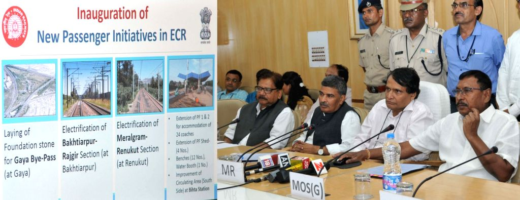 Union Minister for Railways Suresh Prabhu and the Minister of State for Railways Rajen Gohain inaugurate the New Passenger Initiatives in ECR, through video conferencing from Rail Bhawan ... - Suresh Prabhu