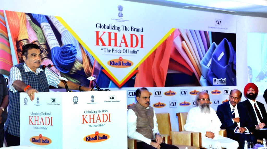 """Union Minister for Road Transport and Highways and Micro, Small and Medium Enterprises Nitin Gadkari addresses at the Business Summit for Globalizing the Brand - KHADI """"The Pride of ... - Arun Kumar Panda"""