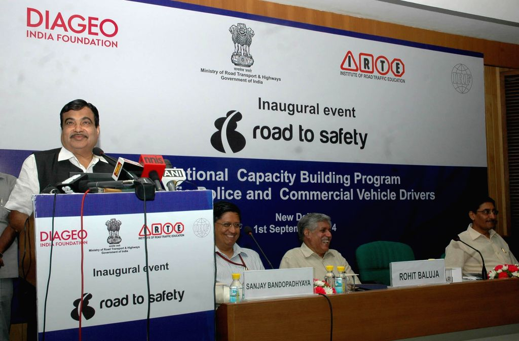 Union Minister for Road Transport & Highways and Shipping, Nitin Gadkari addresses at the inauguration of the National programme on capacity building in traffic management with focus on the issue