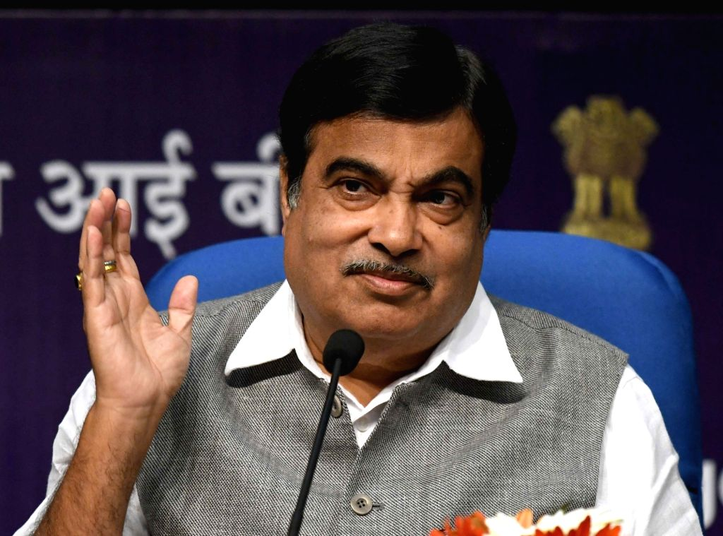 Union Minister for Road Transport & Highways and Shipping Nitin Gadkari addresses at the launch of the Curtain Raiser event for India Integrated Transport & Logistics Summit, in ...