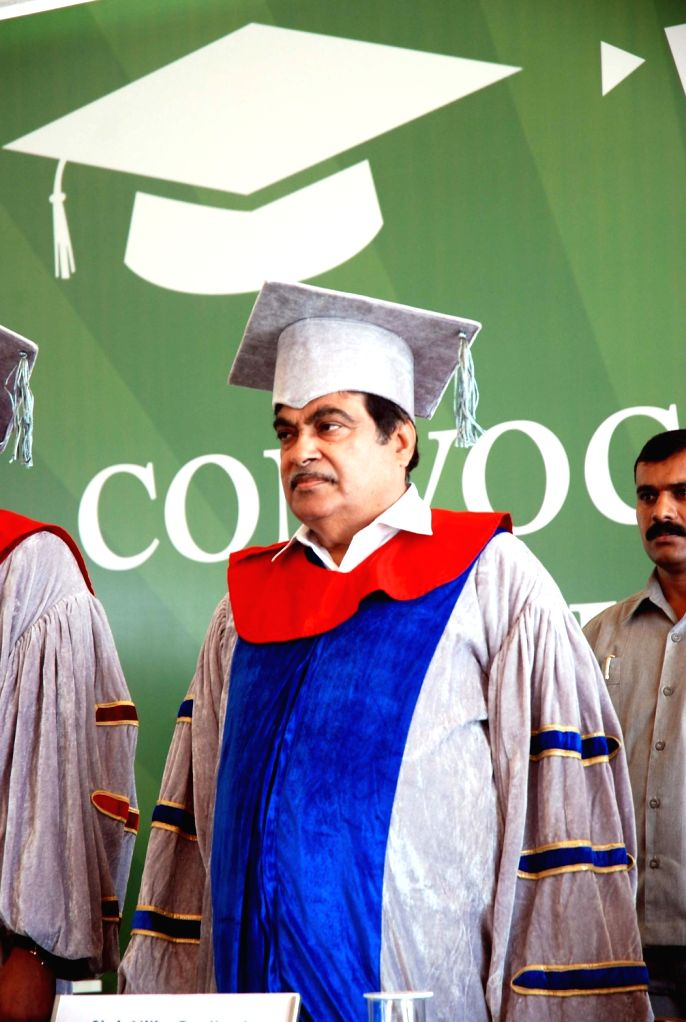 Union Minister for Road Transport & Highways and Shipping Nitin Gadkari at the We School Convocation ceremony, in Mumbai, on March 16, 2017.