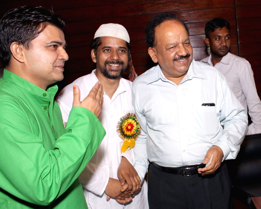 Union Minister for Science and Technology and Earth Sciences, Dr. Harsh Vardhan at a iftaar party organised by Muslim Rashtriya Munch, in New Delhi on July 4,2015.