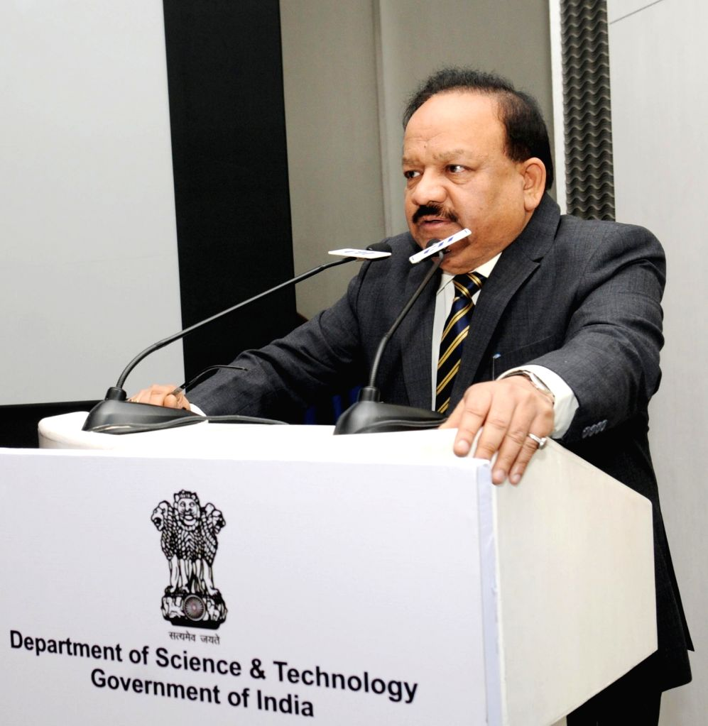 """Union Minister for Science and Technology and Earth Sciences, Dr. Harsh Vardhan addresses at the launch of the """"India-UK Technology Summit and Knowledgexpo 2016"""", in New Delhi ..."""