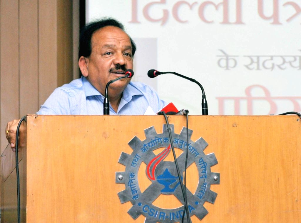 Union Minister for Science and Technology, Earth Sciences and Environment, Forest & Climate Change Dr. Harsh Vardhan addresses at the inauguration of the workshop for media persons on ...