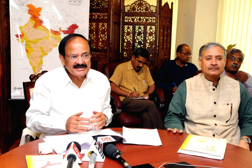 """Union Minister for Urban Development, Housing & Urban Poverty Alleviation and Information & Broadcasting M Venkaiah Naidu addresses at the release of the """"Updated Earthquake ... - M Venkaiah Naidu"""