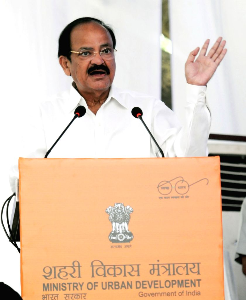 Union Minister for Urban Development, Housing & Urban Poverty Alleviation and Information & Broadcasting M. Venkaiah Naidu addressing at the inauguration of the Social ... - M. Venkaiah Naidu