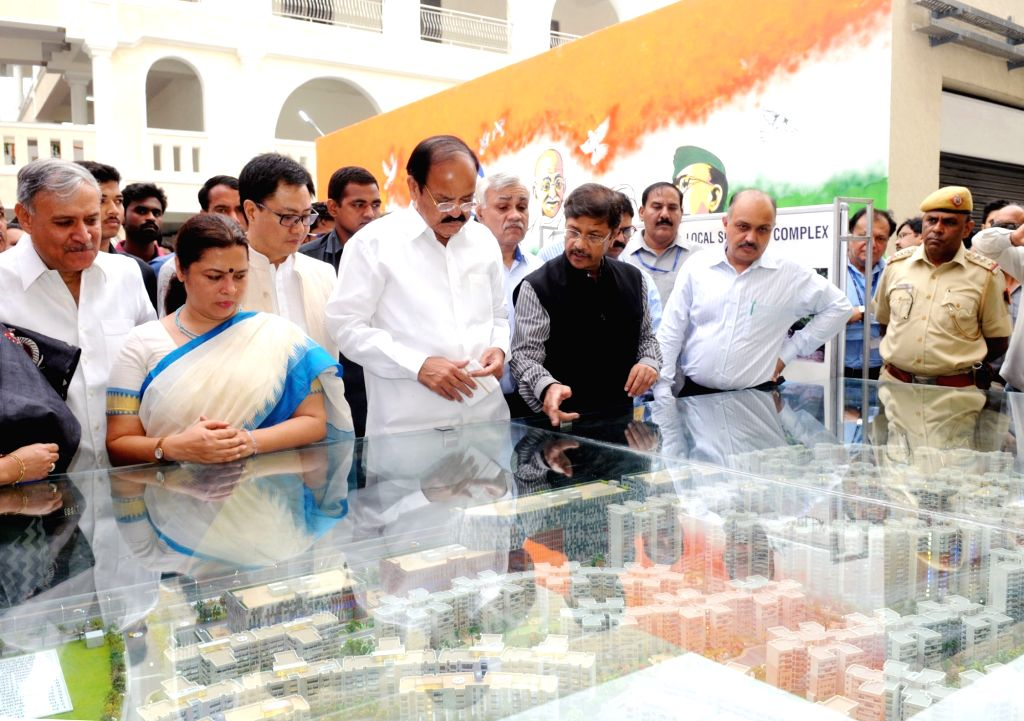 Union Minister for Urban Development, Housing & Urban Poverty Alleviation and Information & Broadcasting, M. Venkaiah Naidu inaugurated the Social Infrastructure (Local shopping ... - M. Venkaiah Naidu