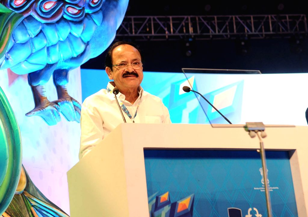Union Minister for Urban Development, Housing & Urban Poverty Alleviation and Information & Broadcasting M Venkaiah Naidu during the innauguration of 47th International Film Festival ... - M Venkaiah Naidu
