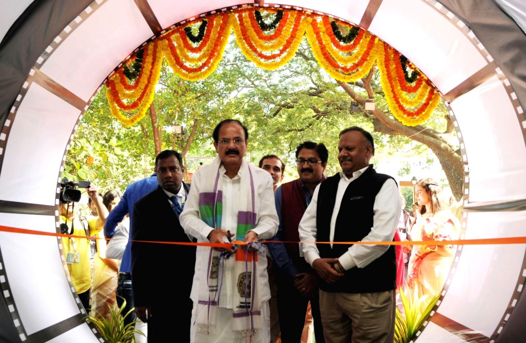 Union Minister for Urban Development, Housing & Urban Poverty Alleviation and Information & Broadcasting M Venkaiah Naidu inaugurates the Indian Panorama during the 47th International ... - M Venkaiah Naidu